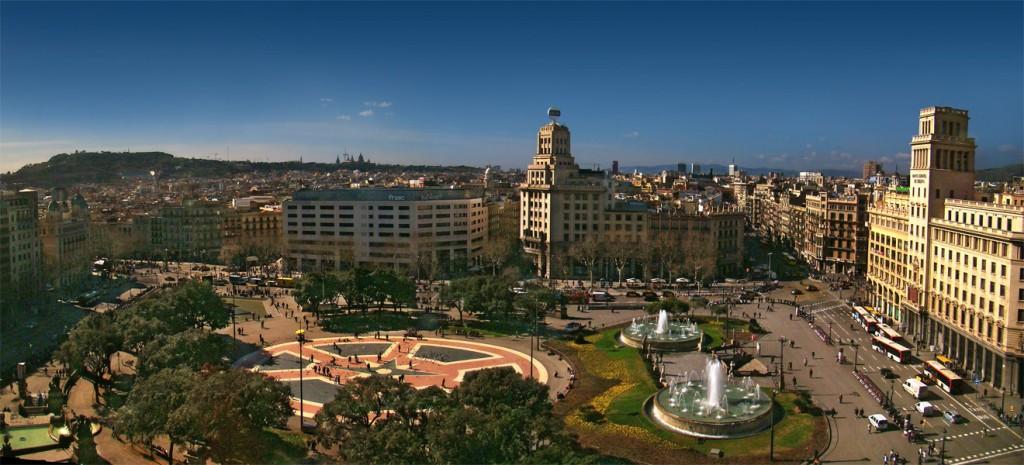 La Plaza de Cataluña en Barcelona